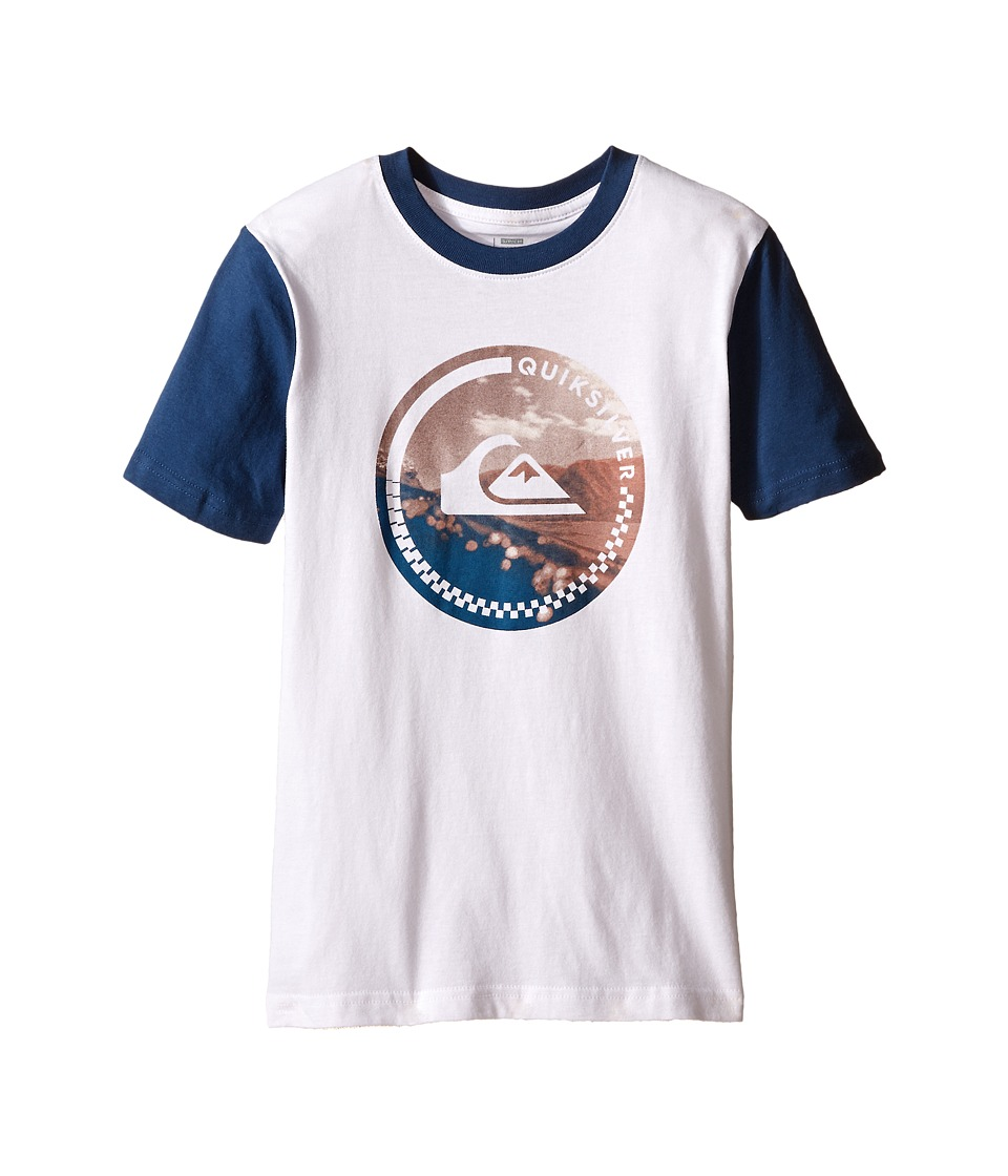 Quiksilver Kids - More Core Screen Print (Big Kids) (White) Boy's T Shirt