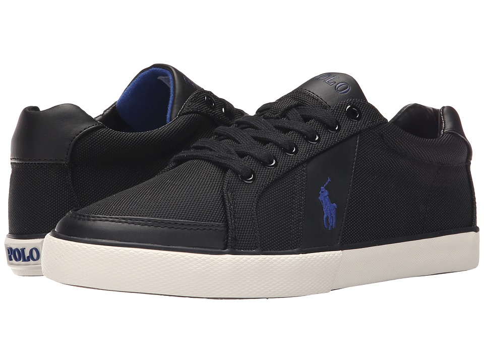 Polo Ralph Lauren - Hugh (Black Pique Nylon) Men's Lace up casual Shoes