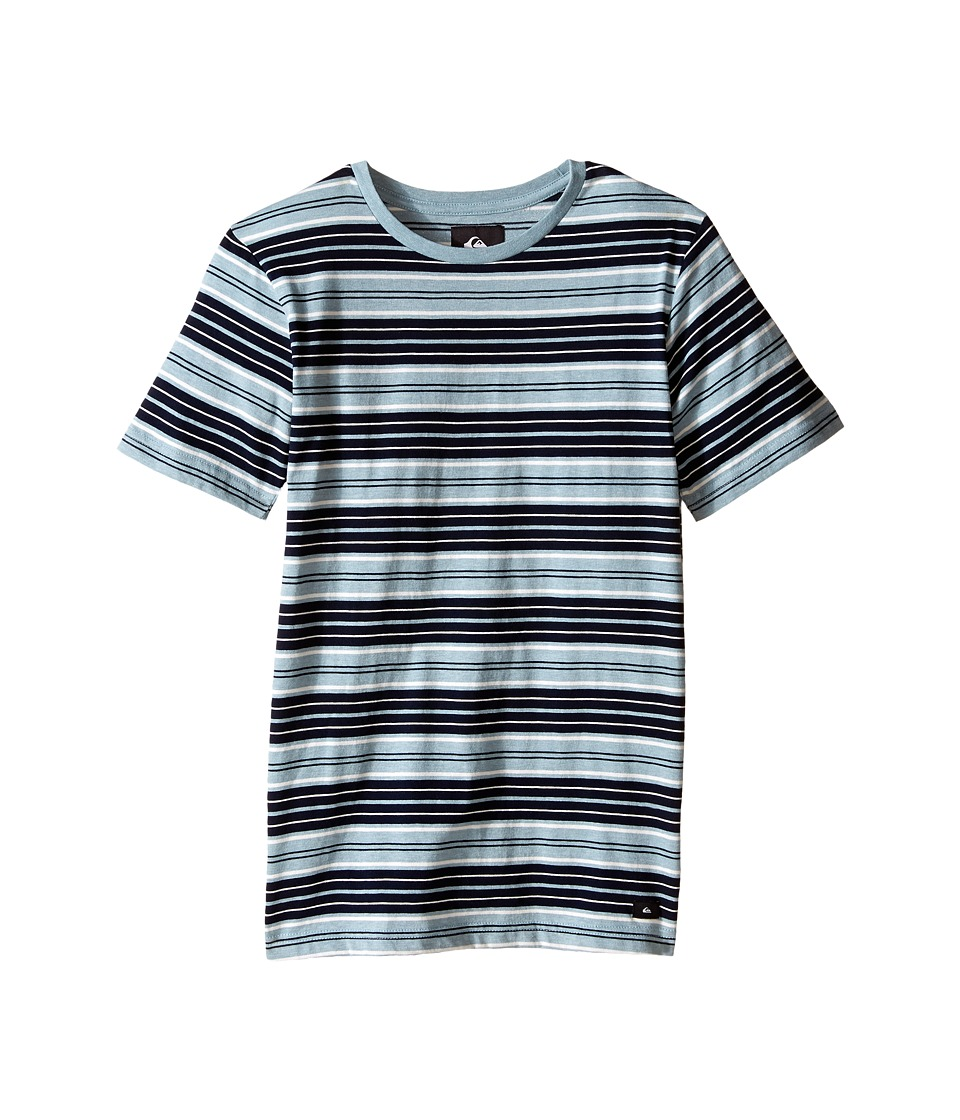 Quiksilver Kids - Dry Ice Screen Print (Big Kids) (Tourmaline Heather) Boy's T Shirt