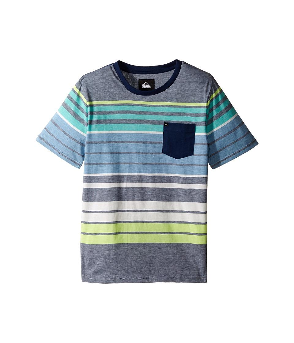Quiksilver Kids - Long Way Screen Print (Big Kids) (Dark Denim) Boy's T Shirt