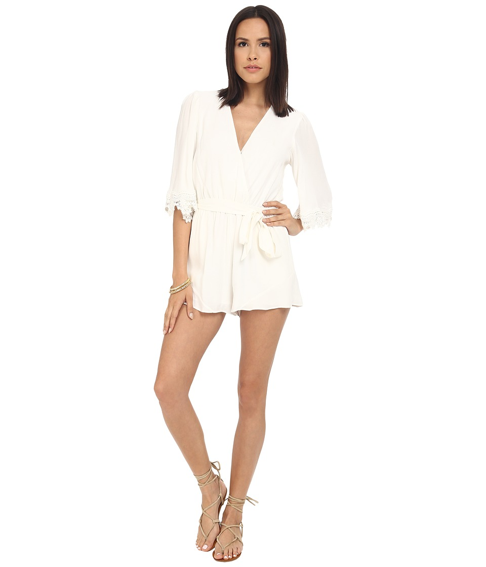 Lovers + Friends - Reese Romper (Ivory) Women's Jumpsuit & Rompers One Piece