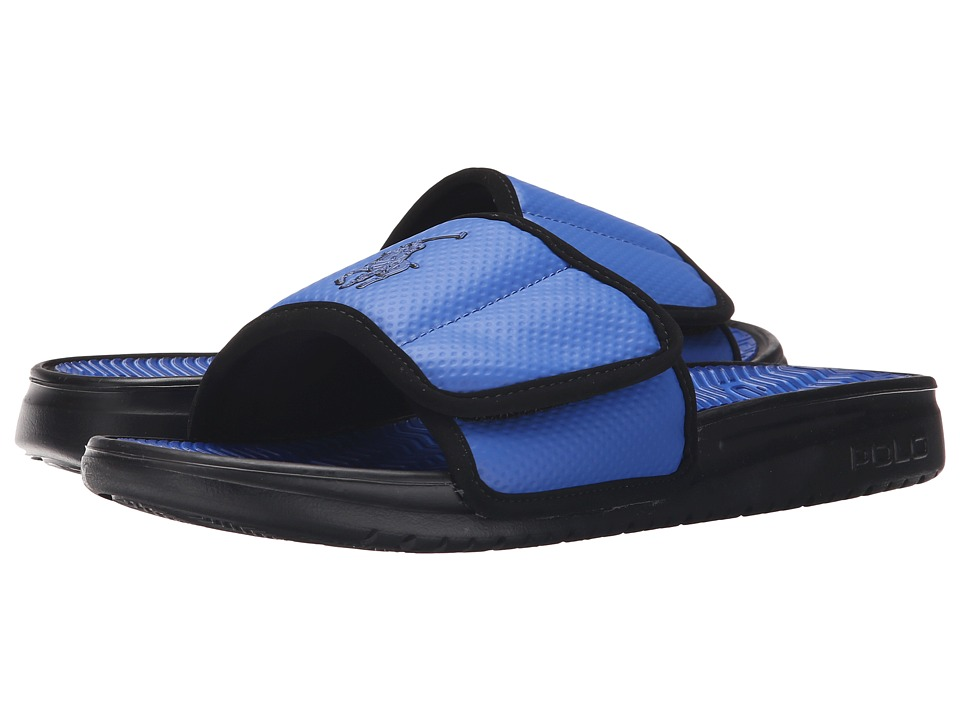 Polo Ralph Lauren - Romsey (Royal/Black Synthetic) Men's Slide Shoes