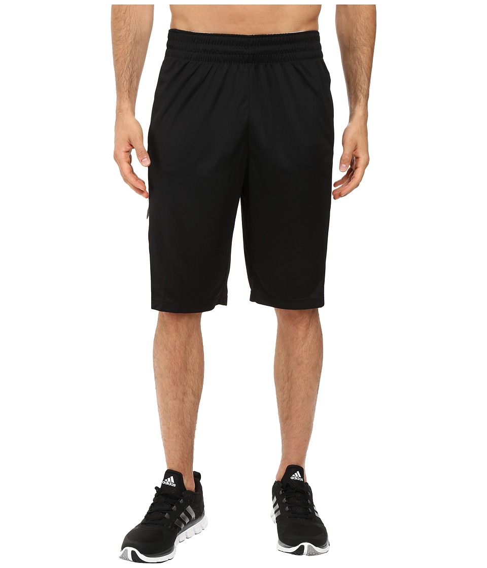 adidas - Team Speed Practice Shorts (Black/Dark Grey Heather/Solid Grey/White) Men's Shorts