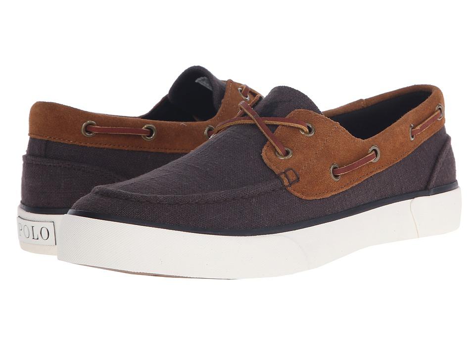 Polo Ralph Lauren - Rylander (Black/New Snuff Flax Linen/Sport Suede) Men's Shoes