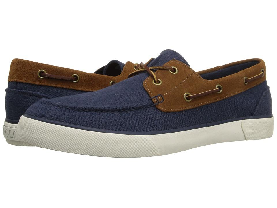 Polo Ralph Lauren - Rylander (Indigo Snuff/New Snuff Flax Linen/Sport Suede) Men's Shoes