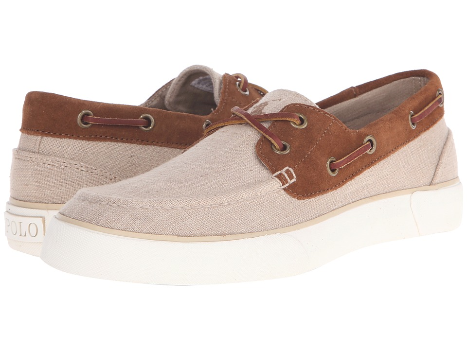 Polo Ralph Lauren Rylander (Natural/New Snuff Flax Linen/Sport Suede) Men