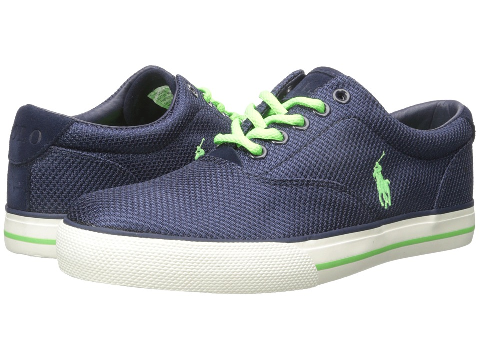 Polo Ralph Lauren - Vaughn (Newport Navy Dotted Mesh) Men's Lace up casual Shoes