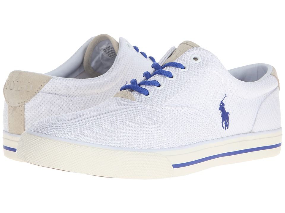 Polo Ralph Lauren - Vaughn (White Dotted Mesh) Men's Lace up casual Shoes
