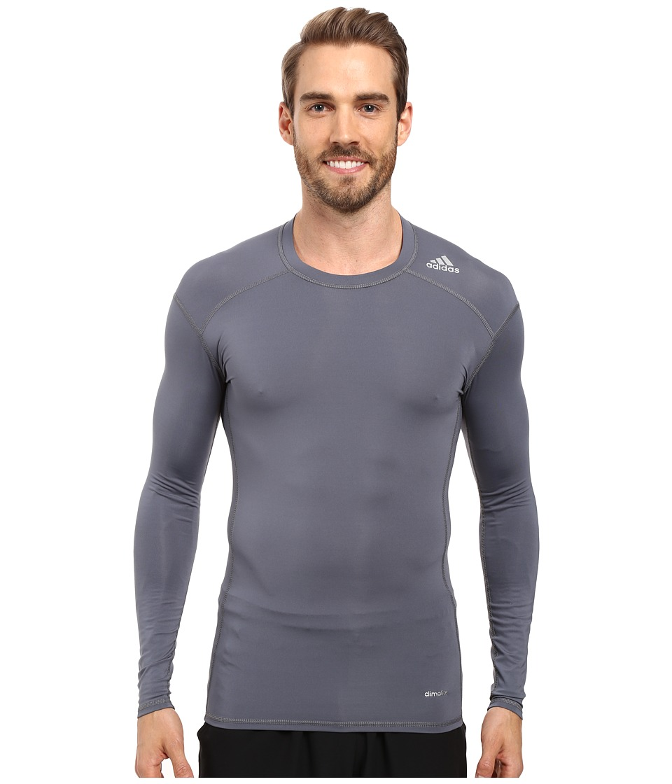 adidas - Techfit Base Layer Long Sleeve Tee (Onix) Men's T Shirt