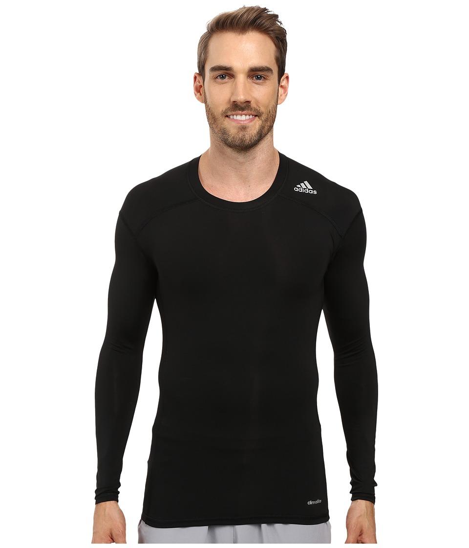adidas - Techfit Base Layer Long Sleeve Tee (Black) Men's T Shirt