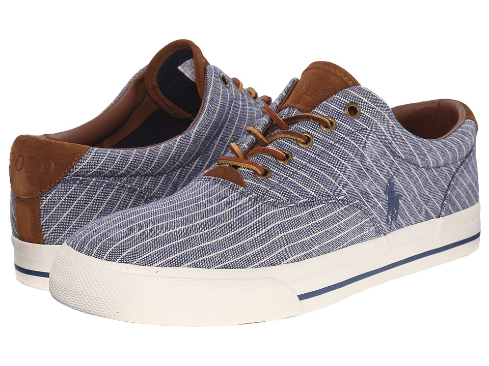 Polo Ralph Lauren - Vaughn (Navy Suiting Stripe Canvas) Men's Lace up casual Shoes