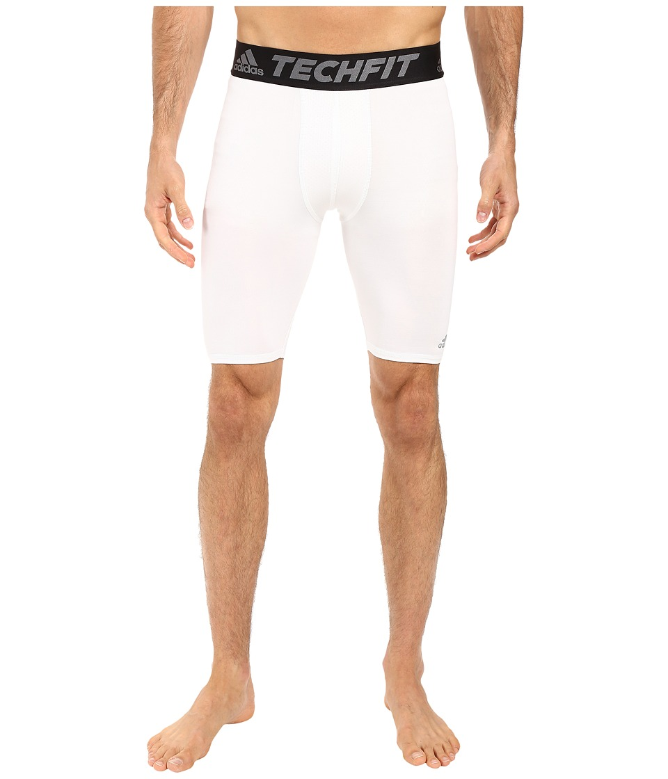 adidas - Techfit Base Layer Short Tights (White) Men's Casual Pants