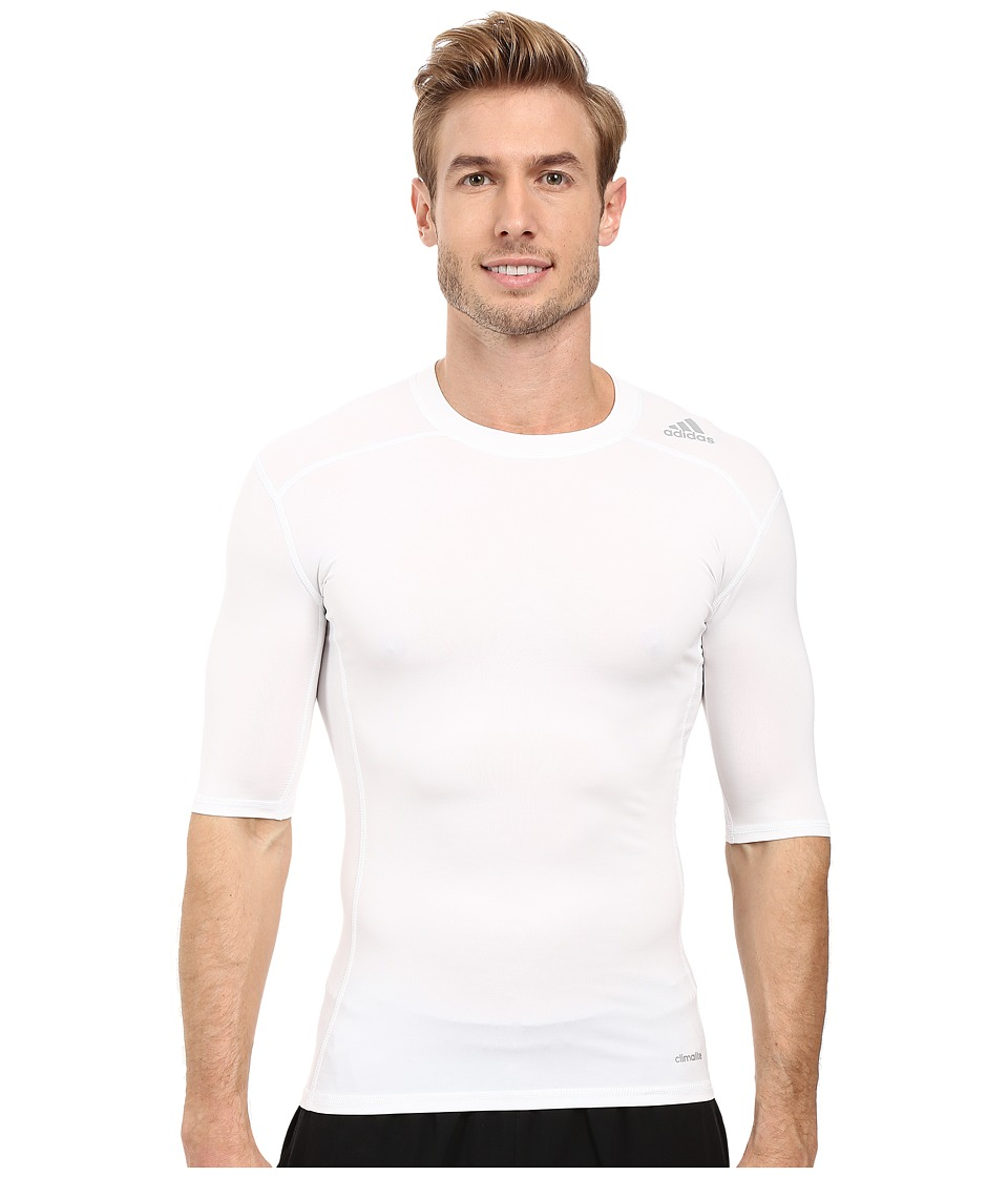 adidas - Techfit Base Layer Short Sleeve Tee (White) Men's T Shirt