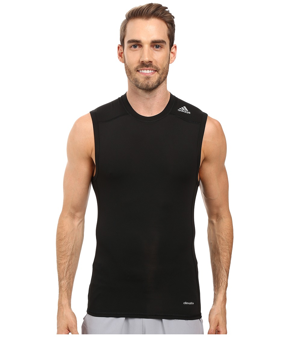 adidas - Techfit Base Layer Sleeveless Tee (Black) Men's T Shirt