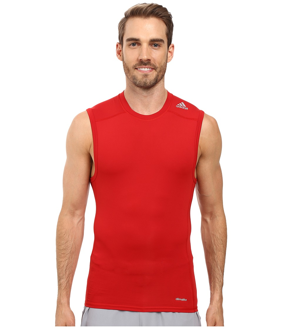 adidas - Techfit Base Layer Sleeveless Tee (Power Red) Men's T Shirt