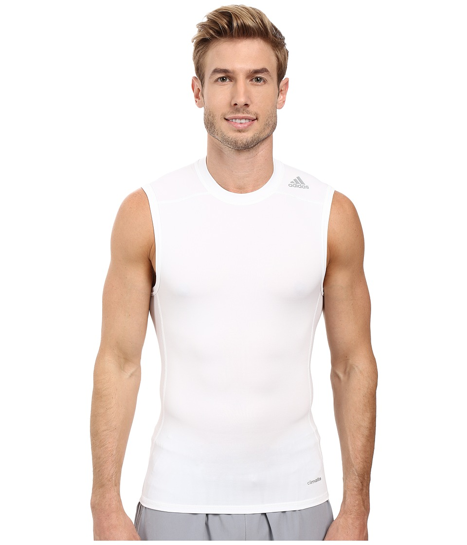adidas - Techfit Base Layer Sleeveless Tee (White) Men's T Shirt