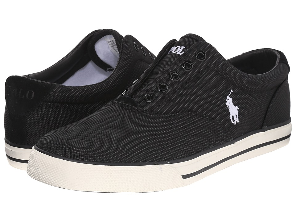 Polo Ralph Lauren - Vito (Black Pique Nylon) Men's Lace up casual Shoes