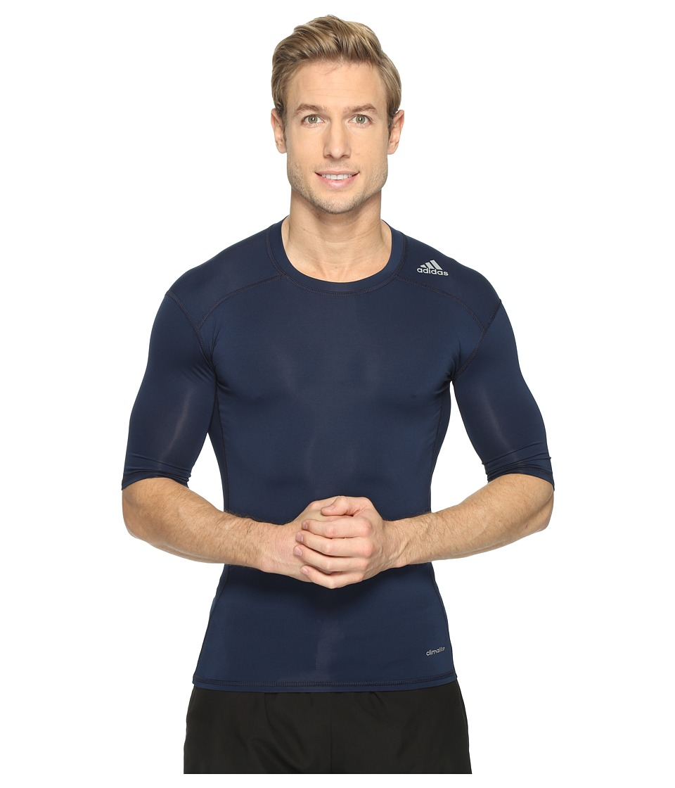 adidas - Techfit Compression Short Sleeve Top (Collegiate Navy) Men's Clothing