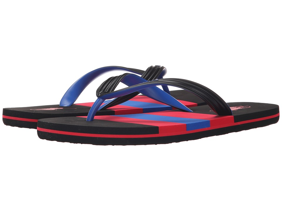Polo Ralph Lauren - Whitlebury (Black Matte PVC) Men's Sandals