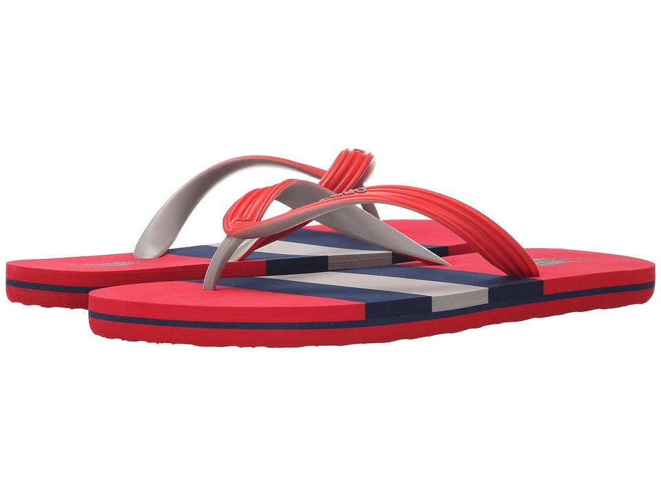 Polo Ralph Lauren - Whitlebury (Red Matte PVC) Men's Sandals