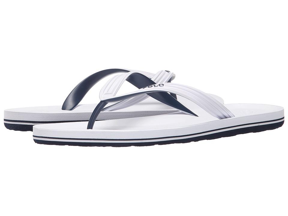 Polo Ralph Lauren - Whittlebury (White/Newport Navy Matte PVC) Men's Sandals