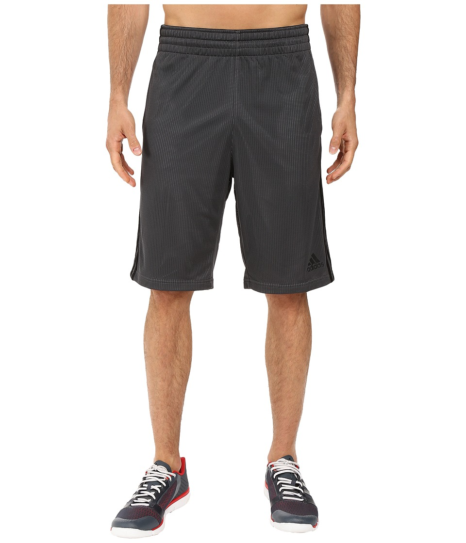 adidas - Triple Up Shorts (Dark Grey Heather/Solid Grey/Black) Men