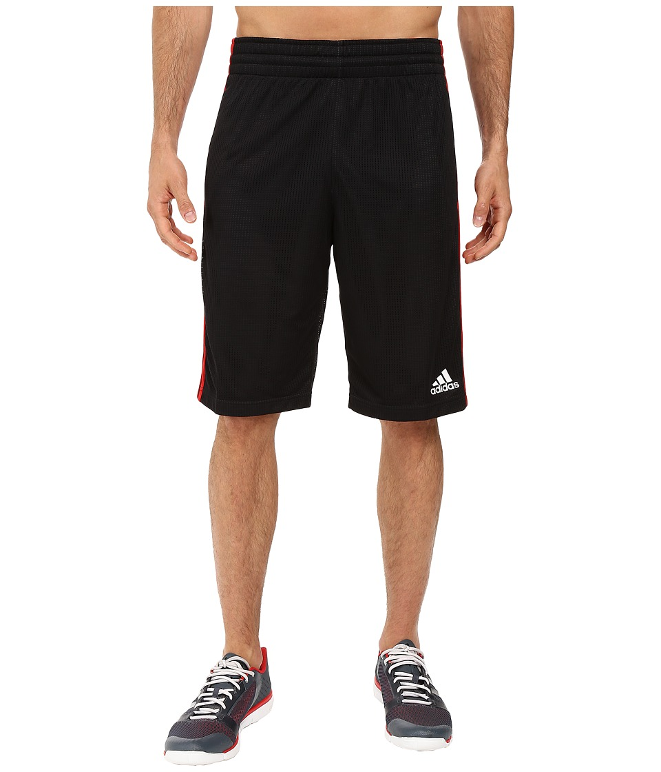 adidas - Triple Up Shorts (Black/Scarlet 1) Men's Shorts