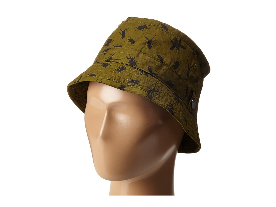 Appaman Kids - Fisherman Hat with Appaman Monkey Lining and Adjustable Bill (Infant/Toddler/Little Kids/Big Kids) (Olive Branch) Caps