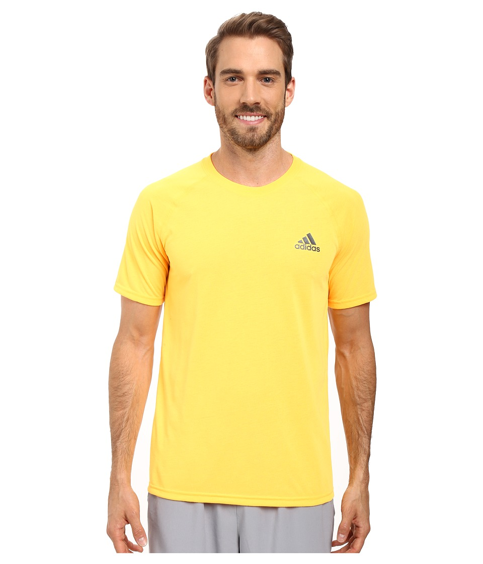 adidas - Ultimate Short Sleeve Crew Tee (Solar Gold/Black) Men's T Shirt