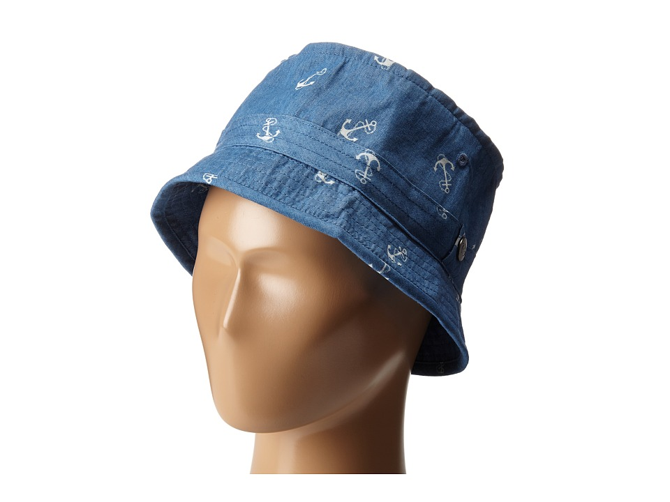 Appaman Kids - Lined Fisherman Cap with Adjustable Bill (Infant/Toddler/Little Kids/Big Kids) (Blue Novelty) Caps