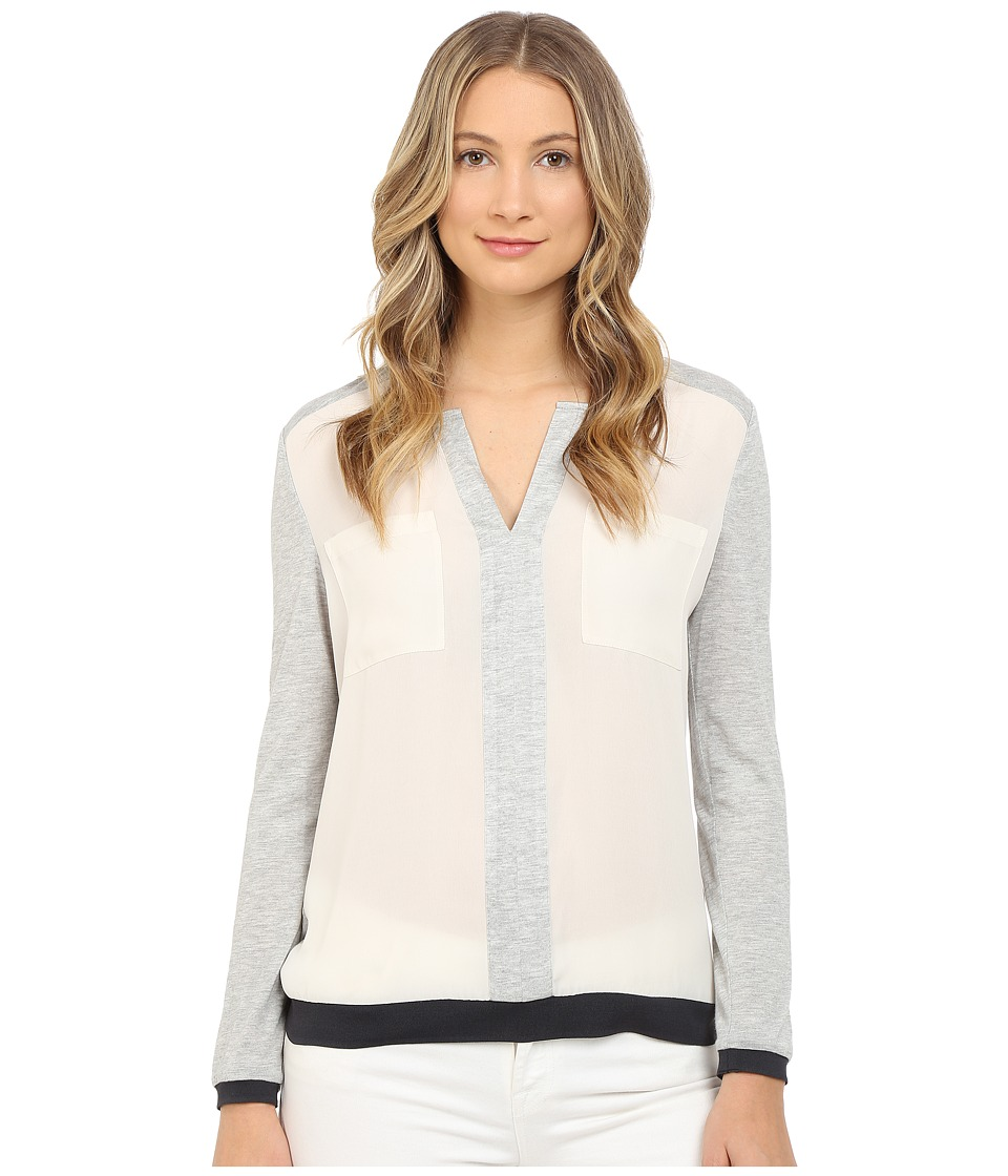 Armani Jeans - Poly Crepe and Viscose Jersey Blouse (Beige Chiaro) Women's Blouse