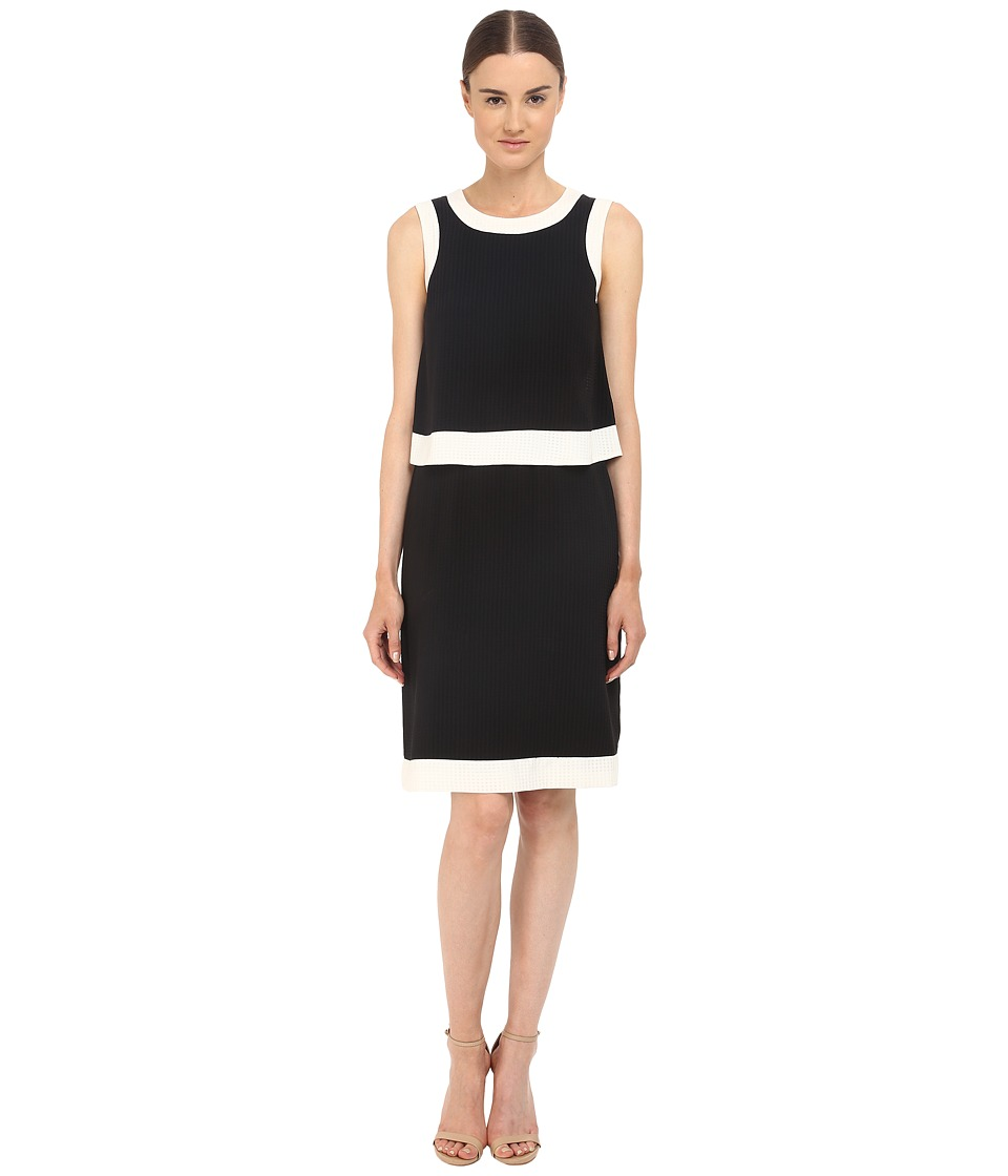 Armani Jeans - Poly Seer Sucker Dress (Black) Women's Dress