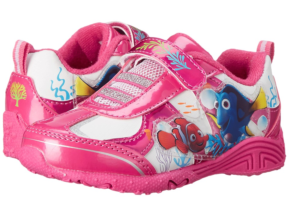 Josmo Kids Dory Lighted Sneaker (Toddler/Little Kid) (Fuchsia/White) Girls Shoes