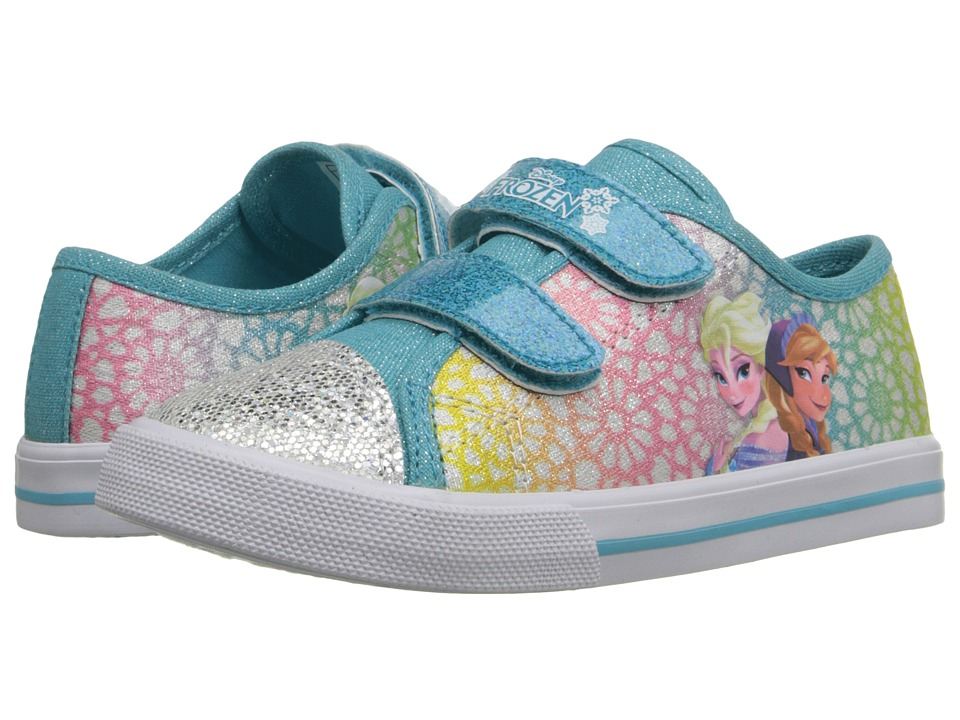 Josmo Kids - Frozen Glitter Toe Sneaker (Toddler/Little Kid) (Blue Multi) Girls Shoes