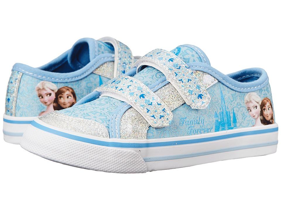 Josmo Kids - Frozen Vulcanized Sneaker (Toddler/Little Kid) (Blue Metallic/White) Girls Shoes