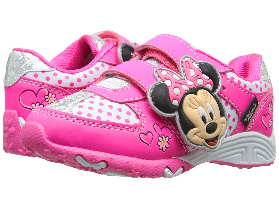 Josmo Kids Minnie Sneaker (Toddler/Little Kid) (Fuchsia/White) Girls Shoes