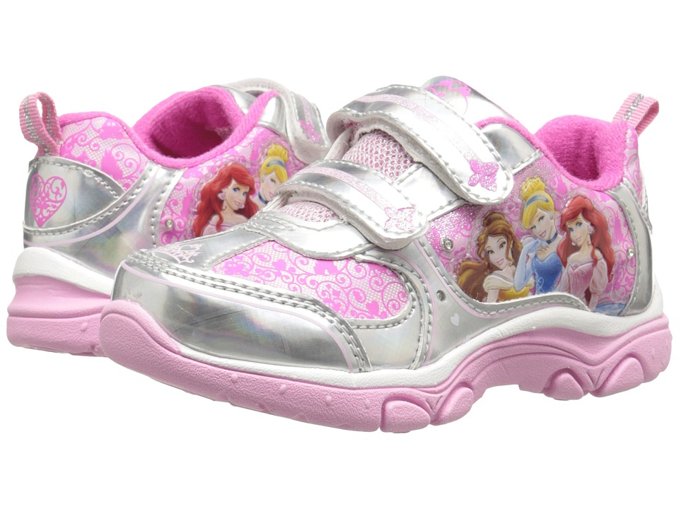 Josmo Kids Princess Sneaker (Toddler/Little Kid) (Pink/Silver) Girls Shoes