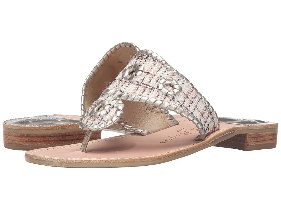 Jack Rogers - Shiloh (Natural Fabric/Platinum) Women's Sandals