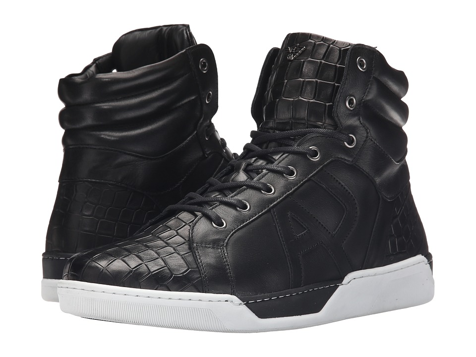 Armani Jeans - Sneaker (Black) Men's Lace up casual Shoes