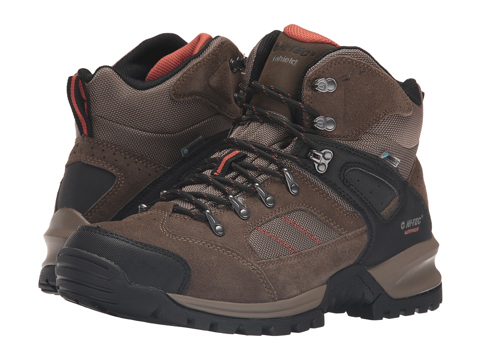 Hi-Tec - Mount Diablo I Waterproof (Smokey Brown/Red Rock) Men's Shoes