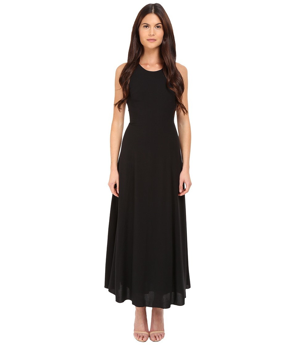 Armani Jeans - Fluid Viscose Dress (Black) Women's Dress