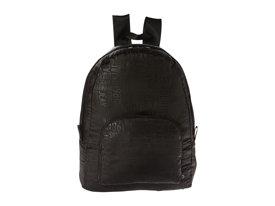 Armani Jeans - Printed Zaino (Black) Backpack Bags