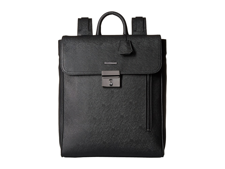 Armani Jeans - Eco Saffiano Zaino (Black) Backpack Bags