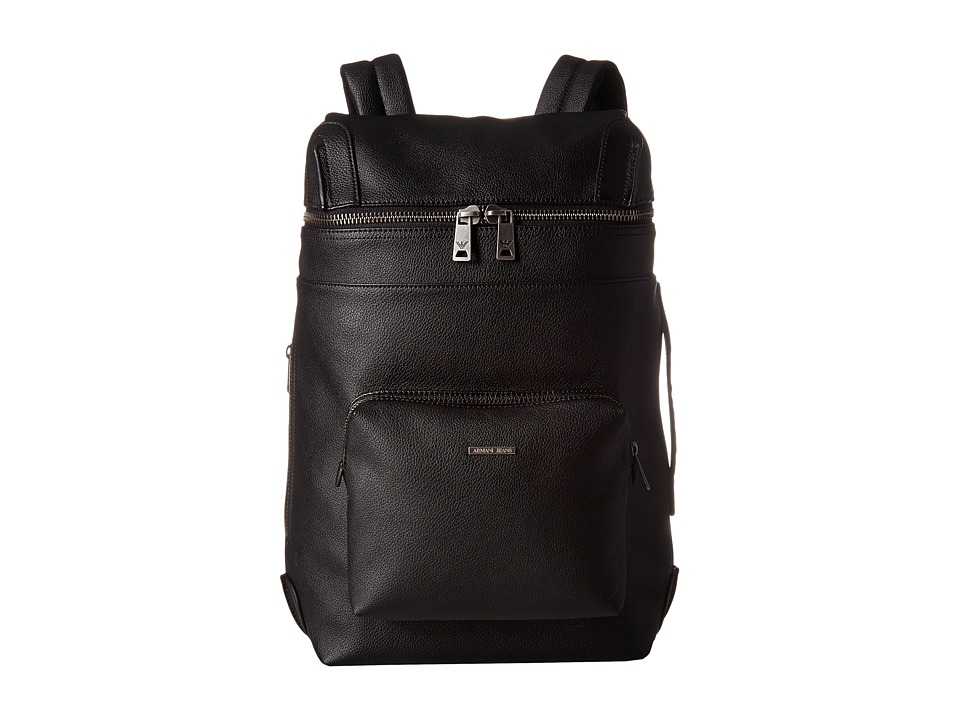 Armani Jeans - Eco Leather Zaino (Black) Backpack Bags