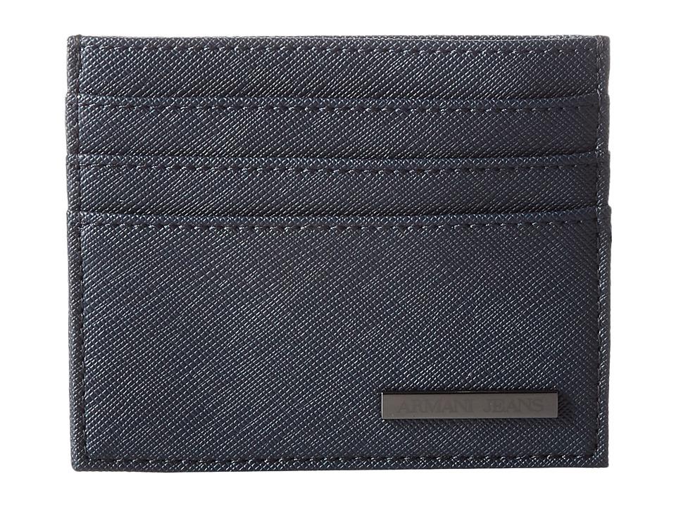 Armani Jeans - Eco Saffiano Porta Carte (Blue) Bags
