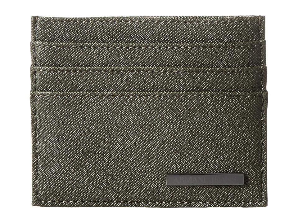 Armani Jeans - Eco Saffiano Porta Carte (Green) Bags