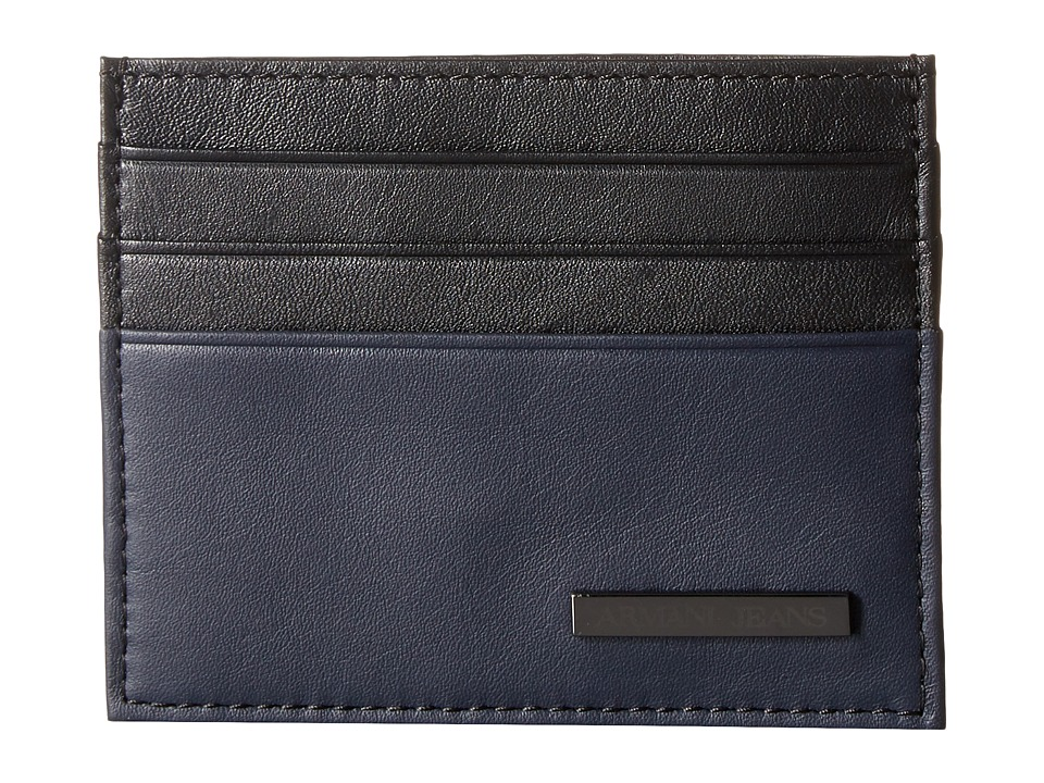 Armani Jeans - Leather Porta Carta (Black) Bags