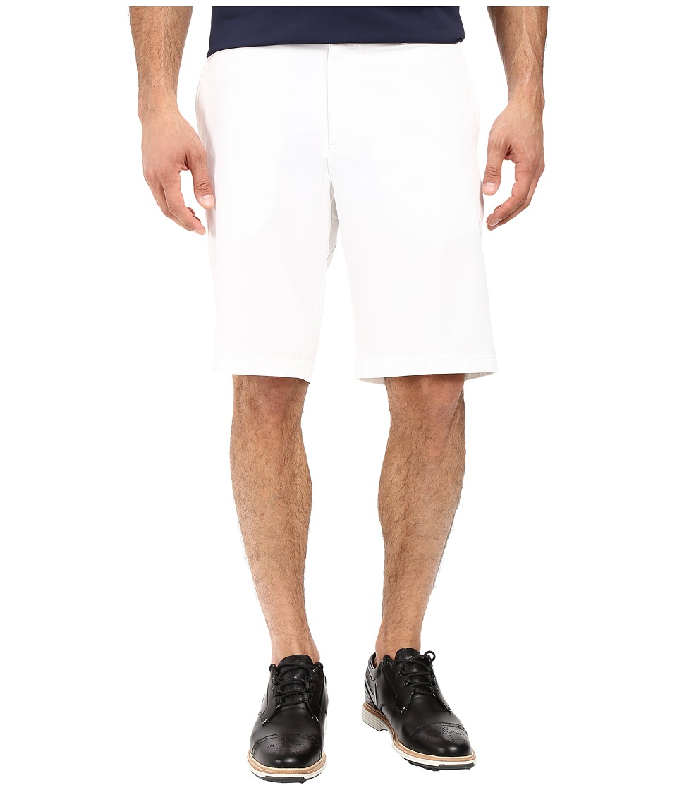 Nike Golf - Flat Front Stretch Woven Shorts (White/Dark Grey/Wolf Grey) Men's Shorts