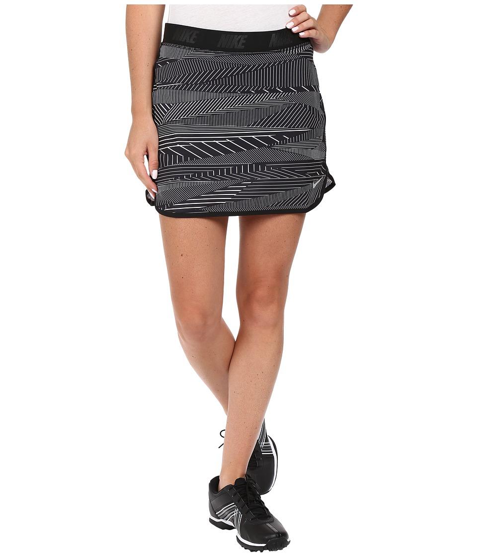 Nike Golf - Flip Skort Print (Black/Metallic Silver) Women's Skort