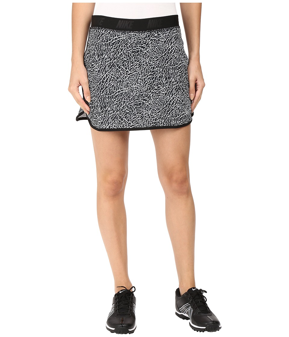 Nike Golf - Flip Skort Print (White/Black/Metallic Silver) Women's Skort